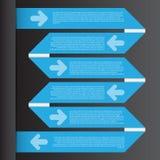 Wektorowa ilustracja, Infographic szablon dla projekt pracy Obraz Royalty Free