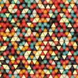 Wektorowa ilustracja jaskrawy błyszczący trójboka tło Zdjęcie Royalty Free