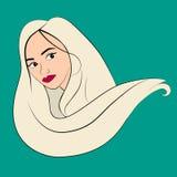 Wektorowa ilustracja kobiety twarz z włosy royalty ilustracja