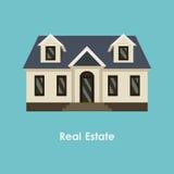 Wektorowa ilustracja kolor nieruchomość i dom Zdjęcie Royalty Free