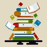 Wektorowa ilustracja kolorowe książki ilustracja wektor