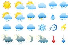 Kolor pogodowe ikony Zdjęcie Stock