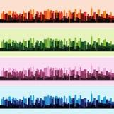 Wektorowa ilustracja kolorowy krajobrazowy panoramy miasta tło Zdjęcie Royalty Free