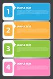 Wektorowa ilustracja, Kolorowy sztandaru szablon dla Kreatywnie pracy Obrazy Royalty Free
