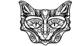 Wektorowa ilustracja kota ` s kaganiec w stylu zentagle Obrazy Stock