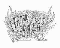 Wektorowa ilustracja, kreatywnie morski literowanie Obrazy Stock