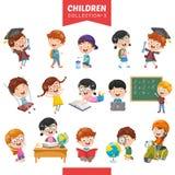 Wektorowa ilustracja kreskówek dzieci royalty ilustracja