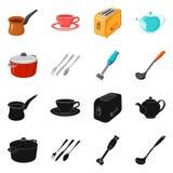 Wektorowa ilustracja kuchni i kucharza logo Kolekcja kuchni i urz?dzenia akcyjny symbol dla sieci royalty ilustracja