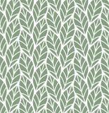 Wektorowa ilustracja liścia bezszwowy wzór Kwiecisty organicznie tło Ręka rysująca liść tekstura royalty ilustracja