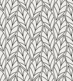 Wektorowa ilustracja liścia bezszwowy wzór Kwiecisty organicznie tło Ręka rysująca liść tekstura ilustracji