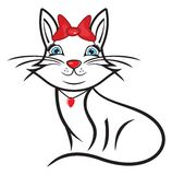 Śliczny kot Obrazy Royalty Free