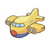 Wektorowa ilustracja śliczny kreskówka samolot Obraz Stock