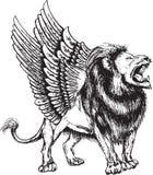 Wektorowa ilustracja lwa bezszwowy wzór ilustracji