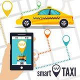 Wektorowa ilustracja mądrze taxi pojęcie Obraz Stock