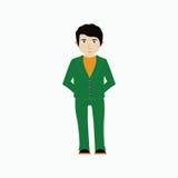 Wektorowa ilustracja mężczyzna w przypadkowych ubraniach ilustracja wektor