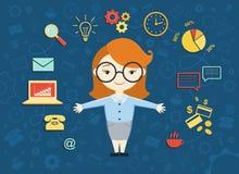 Wektorowa ilustracja młoda biznesowa kobieta Zdjęcie Stock