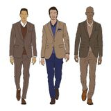 Wektorowa ilustracja męska moda Obrazy Royalty Free