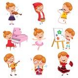 Wektorowa ilustracja małej dziewczynki przedstawienie ilustracja wektor