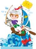 Mały żeglarz ilustracji