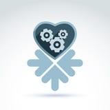 Wektorowa ilustracja machinalny serce Miłości maszyna Obrazy Stock