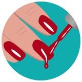 Wektorowa ilustracja manicure Ilustracji