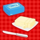Wektorowa ilustracja masło Zdjęcie Royalty Free