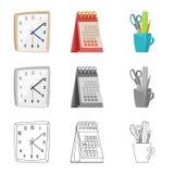 Wektorowa ilustracja meble i pracy logo Set meble i domu akcyjna wektorowa ilustracja ilustracja wektor