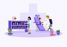 Wektorowa ilustracja medyczna opieka zdrowotna ilustracja wektor
