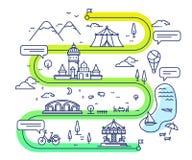 Wektorowa ilustracja miast dzieci rozrywki nawigaci wi Zdjęcia Royalty Free