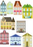 Wektorowa ilustracja miastowi domy odizolowywający Obraz Stock