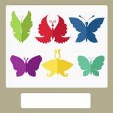 Wektorowa ilustracja - motyl Fotografia Stock