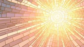 Wektorowa ilustracja mozaika zmierzch. Zdjęcia Stock
