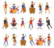 Wektorowa ilustracja muzycy w mieszkanie stylu Obraz Royalty Free