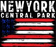Wektorowa ilustracja na temacie w Miasto Nowy Jork wolności styli Zdjęcia Stock