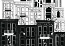 Wektorowa ilustracja nakreślenie nowy York Obrazy Stock