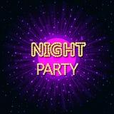 Wektorowa ilustracja nocy przyjęcie na abstrakcjonistycznym tle Zdjęcie Royalty Free