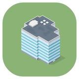 Wektorowa ilustracja nowożytna budynku biurowego interneta ikona Zdjęcia Royalty Free