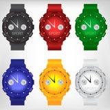 Wektorowa ilustracja nowożytny wristwatch Fotografia Stock