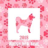 Wektorowa ilustracja nowy rok 2018 pies Zdjęcie Royalty Free