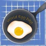 Wektorowa ilustracja omlet Mieszkanie Gramolący się jajko projekt wektor ilustracja wektor