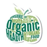 Organicznie jabłczana projekt etykietka Obraz Stock