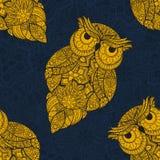 Wektorowa ilustracja ornamentacyjna sowa Obraz Stock
