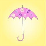 WEKTOROWA ilustracja parasol Fotografia Stock