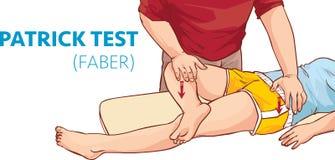 Wektorowa ilustracja Patrick Faber test Obrazy Stock