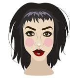 Wektorowa ilustracja piękna młoda brunetki kobieta ilustracji