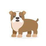 Wektorowa ilustracja pies Dziecka ` s stylizujący obrazek royalty ilustracja