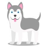 Wektorowa ilustracja pies Dziecka ` s stylizujący obrazek husky ilustracji