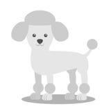 Wektorowa ilustracja pies Dziecka ` s stylizujący obrazek pudel ilustracji