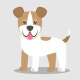 Wektorowa ilustracja pies Dziecka ` s stylizujący obrazek terier jack Russell ilustracji