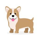 Wektorowa ilustracja pies Dziecka ` s stylizujący obrazek Walijski Corgi ilustracja wektor